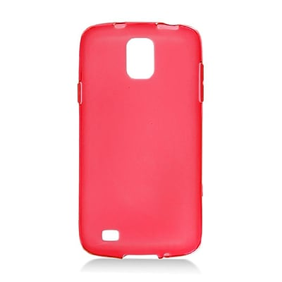 Insten Transparent Frosted TPU Rubber Candy Skin Case Back Cover For Samsung Galaxy S4 Active - Red