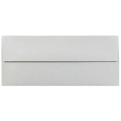 JAM Paper® #10 Passport Business Envelopes, 4.125 x 9.5, Granite Silver Recycled, Bulk 1000/Carton (900787003B)