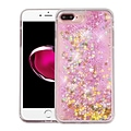 Insten Quicksand Stars Hard Glitter TPU Cover Case For Apple iPhone 7 Plus/ 8 Plus, Clear/Pink