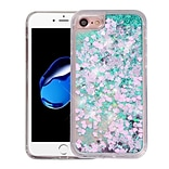 Insten Quicksand Hearts Hard Glitter TPU Case For Apple iPhone 7/ 8, Clear/Green