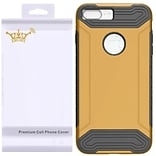 Insten Q Hybrid Dual Layer Slim Armor Hard TPU Shockproof Case For Apple iPhone 7 Plus - Gold/Black