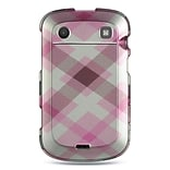 Insten Hard Rubberized Cover Case For BlackBerry Bold Touch 9900/9930 - Pink/White