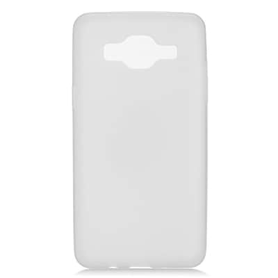 Insten Transparent Frosted TPU Rubber Candy Skin Case Back Cover For Samsung Galaxy On5 - White