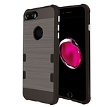 Insten Tuff Rubber Cover Case For Apple iPhone 7 Plus - Gray