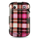 Insten Hard Rubber Case For BlackBerry Bold Touch 9900/9930 - Hot Pink/Brown