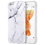 Insten Marble Imd Soft TPU Ultra Thin Skin Rubber Gel Case For Apple iPhone 6s Plus / 6 Plus - White