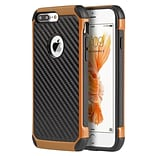 Insten Hard Hybrid TPU Cover Case For Apple iPhone 7 Plus - Black/Orange
