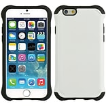 Insten Hard Dual Layer TPU Cover Case for Apple iPhone 6 / 6s - White/Black