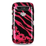 Insten Hard Rubberized Case For BlackBerry Torch 9850/9860 - Hot Pink/Black