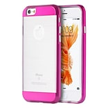 Insten Hard Dual Layer TPU Cover Case For Apple iPhone 6 / 6s - Clear/Hot Pink