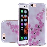 Insten Cherry Blossom Hard Rubberized Cover Case For Apple iPhone 6 / 6s - Pink/White