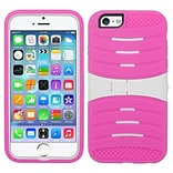 Insten Wave Symbiosis Gel Hybrid Rubber Hard Cover Case with Stand For iPhone 6 Plus / 6s Plus - Pin