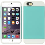 Insten Hard Dual Layer TPU Cover Case For Apple iPhone 6 / 6s - Blue/White