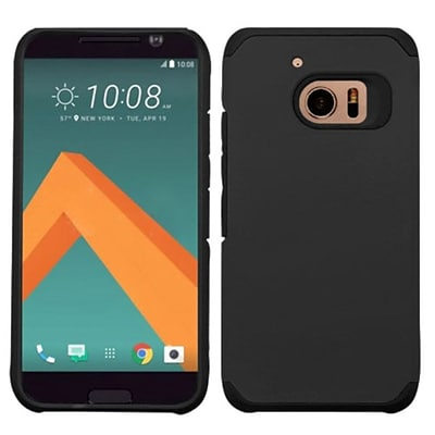 Insten Hard Dual Layer Silicone Case For HTC One M10 - Black