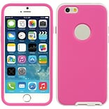 Insten Hard Dual Layer TPU Cover Case For Apple iPhone 6 / 6s - Hot Pink/White