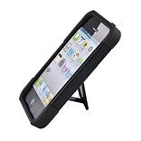 Insten Hard Hybrid Plastic Silicone Case with stand for iPhone 5S 5 - Black