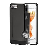 Insten Hard Hybrid TPU Case w/card slot For Apple iPhone 7 Plus - Gray/Black