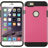 Insten Hard Hybrid TPU Cover Case for Apple iPhone 6s Plus / 6 Plus - Hot Pink/Black