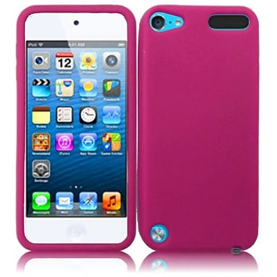 Insten For Apple Ipod Touch 6 6G 6th / 5 5G 5th Silicone Skin Case Hot Pink