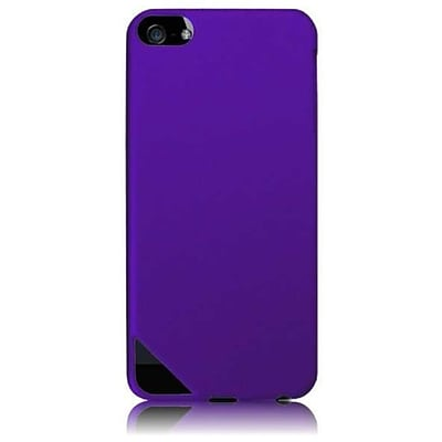 Insten For Apple Ipod Touch 6 6G 6th / 5 5G 5th Rubberized Hard Single Case Dark Purple