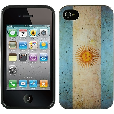 Insten TPU Imd Flag Design Rubber Skin Gel Back Shell Case For Apple iPhone 4 / 4S - Argentina