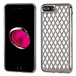 Insten Hard Bling TPU Case For Apple iPhone 7 Plus/ 8 Plus, Silver