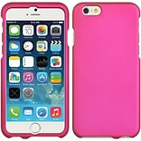 Insten Hard Rubber Coated Cover Back Case for Apple iPhone 6 / 6s - Hot Pink