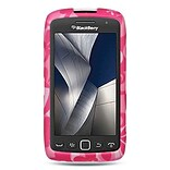 Insten Hard Rubberized Case For BlackBerry Torch 9850/9860 - Hot Pink