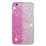 Insten Hard Rhinestone Case For Apple iPhone 6s Plus / 6 Plus - Pink/Silver