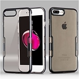 Insten Tuff Hard Hybrid TPU Cover Case For Apple iPhone 7 Plus/ 8 Plus, Black/Smoke