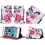 For Apple Iphone 5 5S PU Leather Bling Flip Wallet Credit