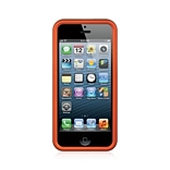 Insten Hard Rubber Cover Case For Apple iPhone SE / 5 / 5S - Orange
