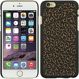Insten Hard Rubberized Cover Case for Apple iPhone 6 / 6s - Black/Gold