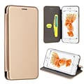 Insten Flip Leather Fabric Case w/stand/card holder For Apple iPhone 7 Plus/ 8 Plus, Gold