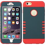 Insten Hard Hybrid Silicone Case for Apple iPhone 6s Plus / 6 Plus - Blue/Red