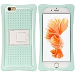 Insten Hard Plastic Silicone Cover Case w/stand For Apple iPhone 6 / 6s - Teal/White