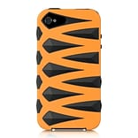 Insten Fusion Candy Skin Diamond Bling Hybrid Dual Layer Case For Apple iPhone 4 / 4S - Orange/Black