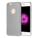 Insten Mesh Rubber Cover Case For Apple iPhone 6 Plus/6s Plus - Gray