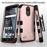 Insten TUFF Hybrid Dual Layer Protective Case [Military-Grade Certified] For LG Stylo 3 - Rose Gold/