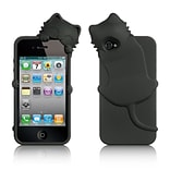 Insten Cartoon Cat Gel Rubber Cover Case w/Diamond For Apple iPhone 4/4S - Black