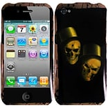 Insten Ghostly Rubber Cover Case For Apple iPhone 4S - Black