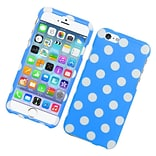 Insten Polka Dots Hard Case For Apple iPhone 6 / 6s - Blue/White