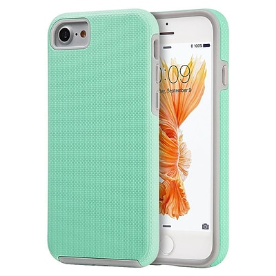 Insten Hard Hybrid TPU Case For Apple iPhone 7 - Teal/Gray