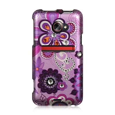 Insten Hard Rhinestone Case For HTC EVO (LTE version) - Purple