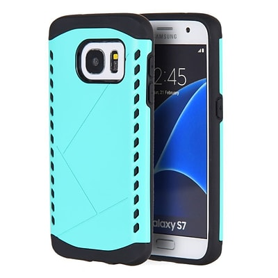 Insten Shocker Hybrid Hard Silicone Shockproof Case Cover For Samsung Galaxy S7 - Teal/Black
