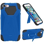 Insten Hard Dual Layer Plastic Silicone Cover Case w/stand For Apple iPhone 7 Plus - Blue/Black