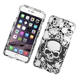 Insten Skull with Angel Hard Cover Case for iPhone 6s Plus / 6 Plus - Black/White