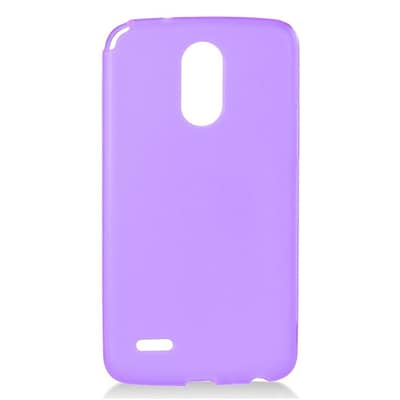 Insten Frosted TPU Rubber Candy Skin Gel Ultra Thin Back Case Cover For LG Stylo 3 - Purple