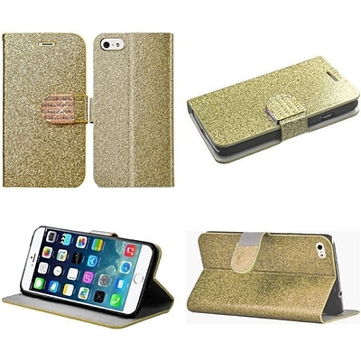 For iPhone 6 Plus (5.5 inch) Shiny PU Leather Bling Flip