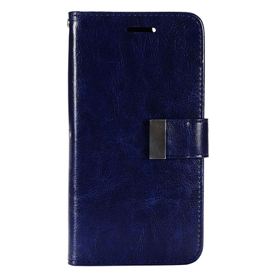 Insten Leather Wallet Case with Card slot & Photo Display For iPhone 6s Plus / 6 Plus - Dark Blue